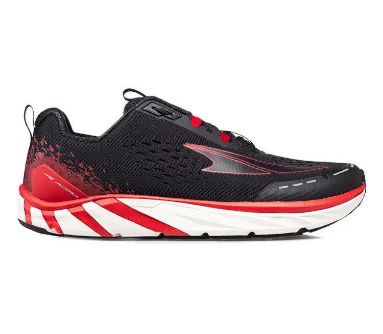 scarpa running uomo altra torni 4 black red