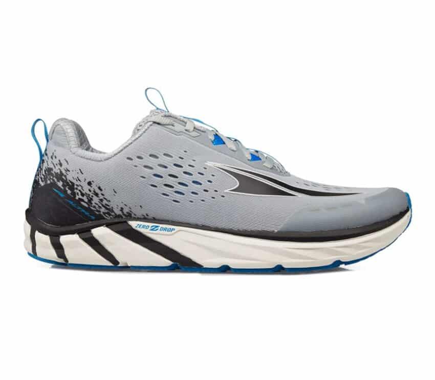 scarpa running uomo altra torin 4 grigia e blu