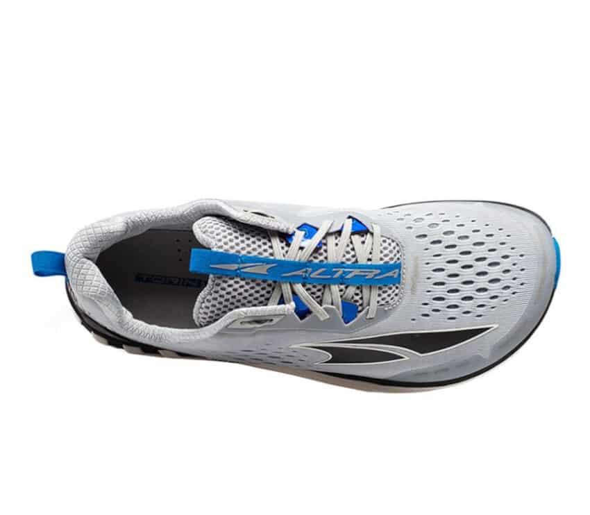 sopra scarpa running uomo altra torin 4 grigia e blu