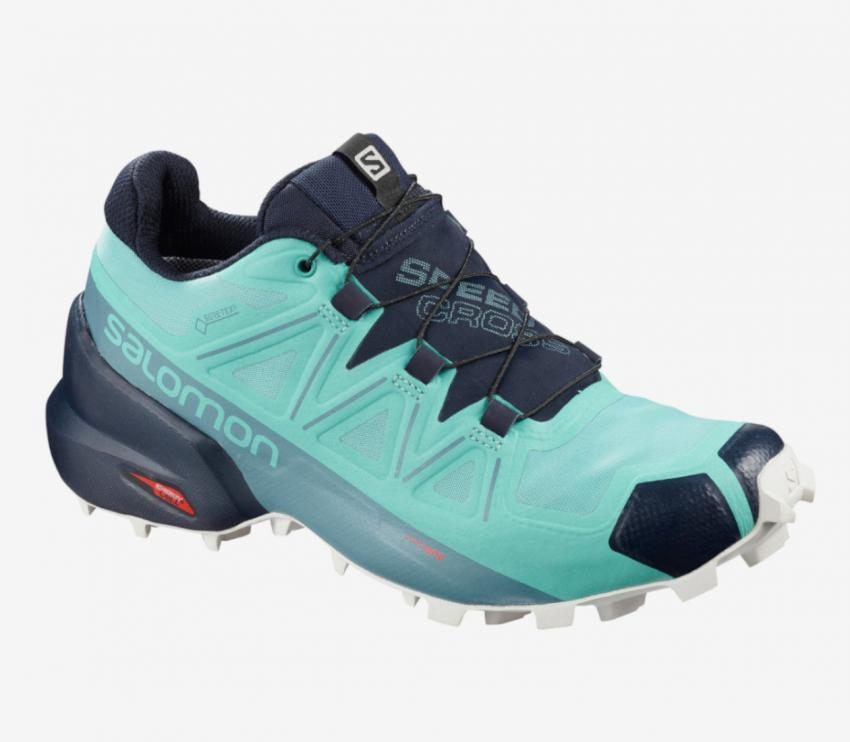 scarpa trail running donna salomon speedcross 5 gtx celesti