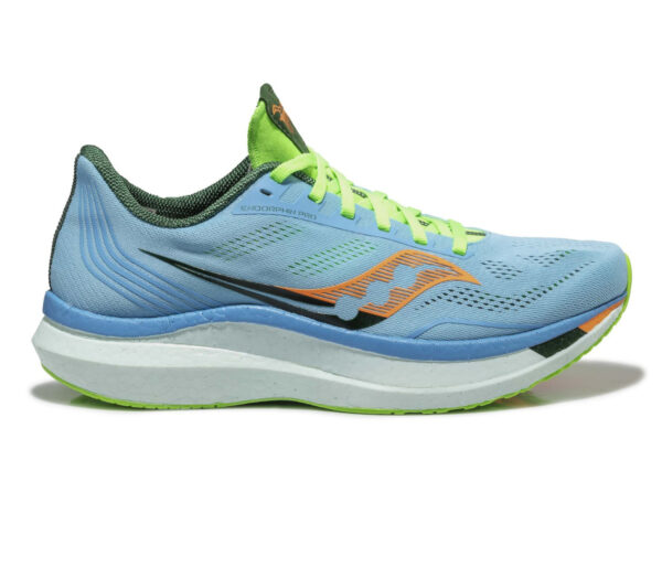 scarpa da running uomo saucony endorphin pro uomo azzurra