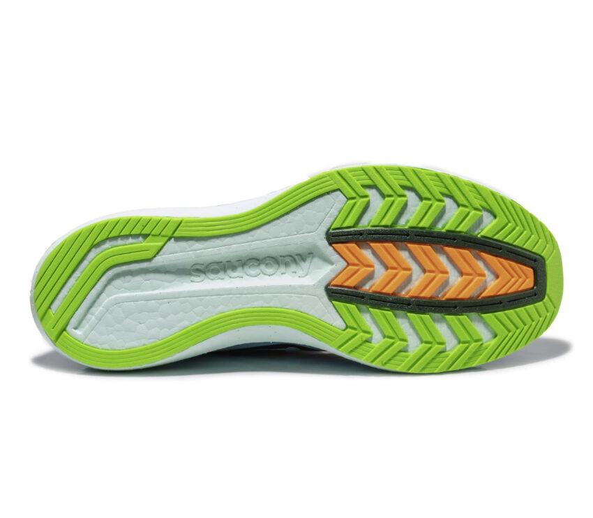 suola scarpa da running uomo saucony endorphin pro uomo azzurra