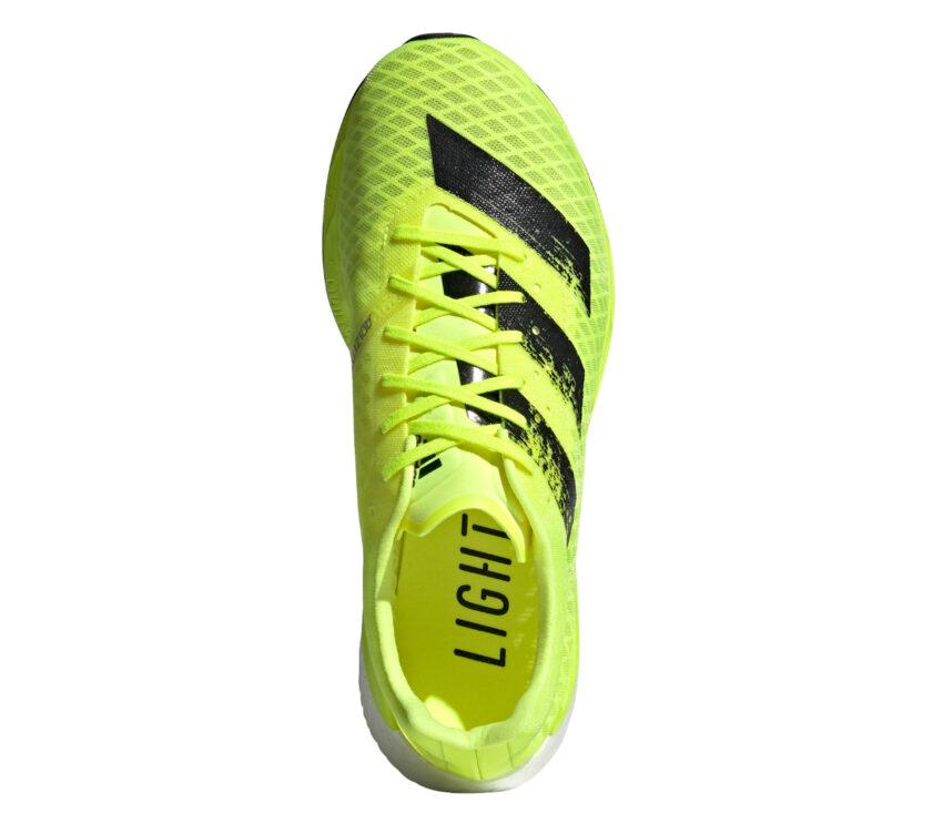 scarpa running uomo adidas adizero pro gialla fluo e nera vista da sopra
