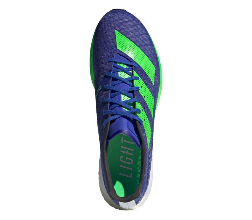 tomaia scarpa da running uomo reattiva adidas adizero pro blu e verde