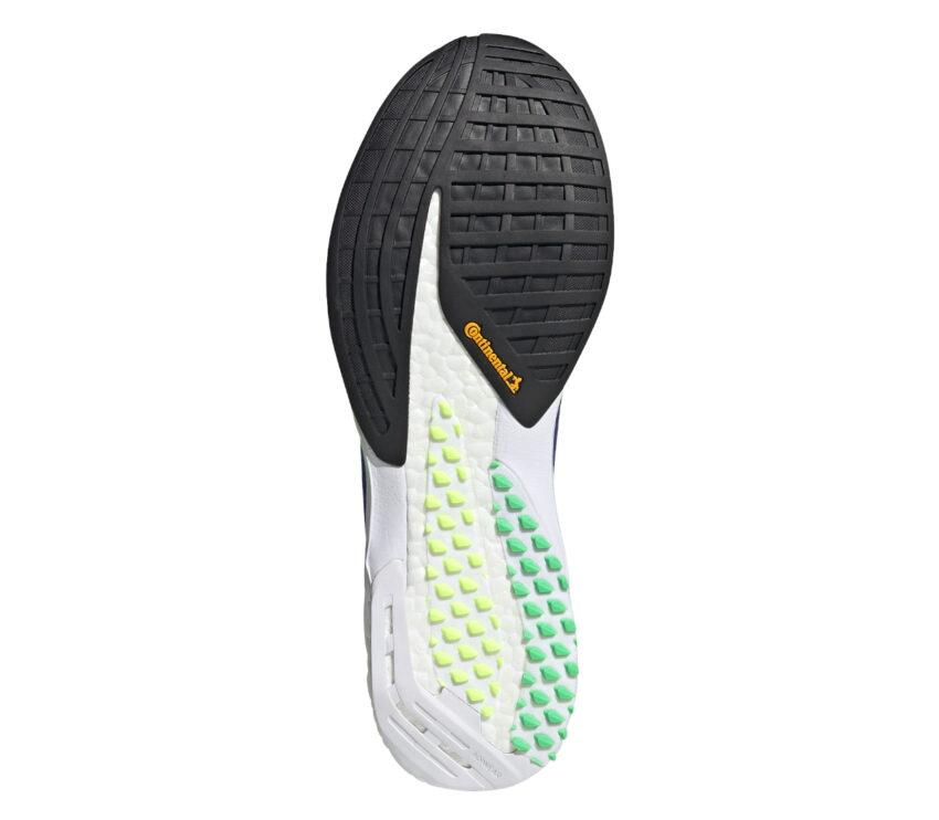 suola scarpa da running uomo reattiva adidas adizero pro blu e verde