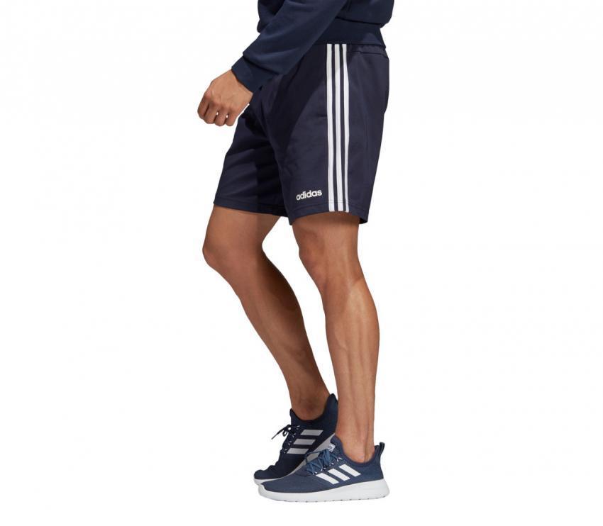pantaloncino running adidas blu lato