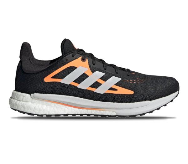 scarpa da running uomo adidas solar glide 3 nero e arancione