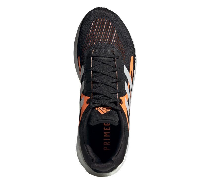 tomaia scarpa da running uomo adidas solar glide 3 nero e arancione