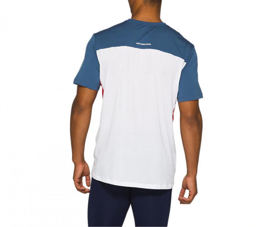 retro t-shirt running asics ss race