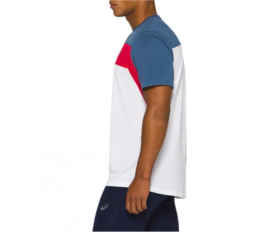 dettaglio t-shirt running asics ss race