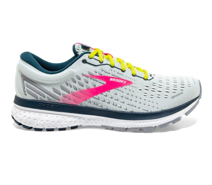 scarpa da running brooks ghost 13 donna grigia e rosa