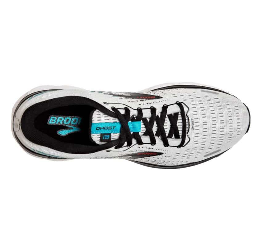 tomaia scarpa da running brooks uomo grigia blu