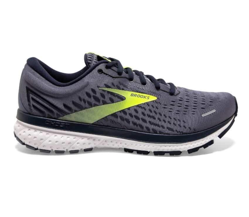 scarpa da running brooks uomo grigia e fluo