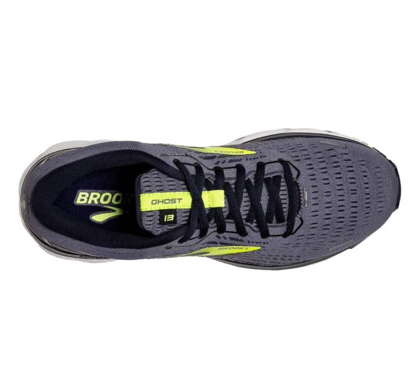 tomaia scarpa da running brooks uomo grigia e fluo