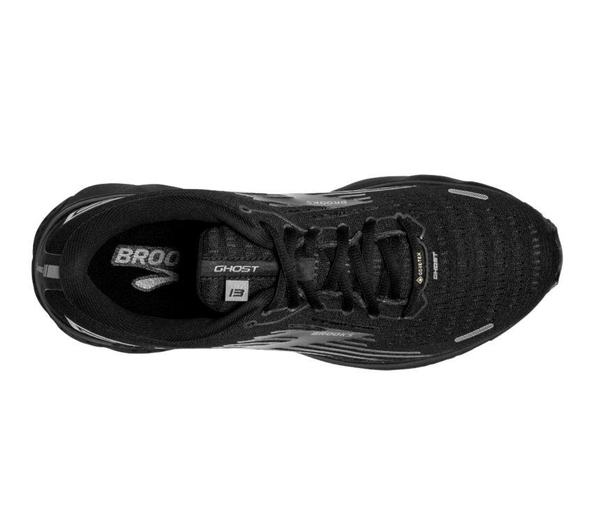 scarpa running uomo nera brooks ghost 13 vista da sopra