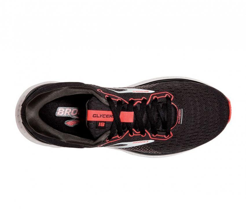 scarpa running donna brooks glycerin 18 nera vista da sopra