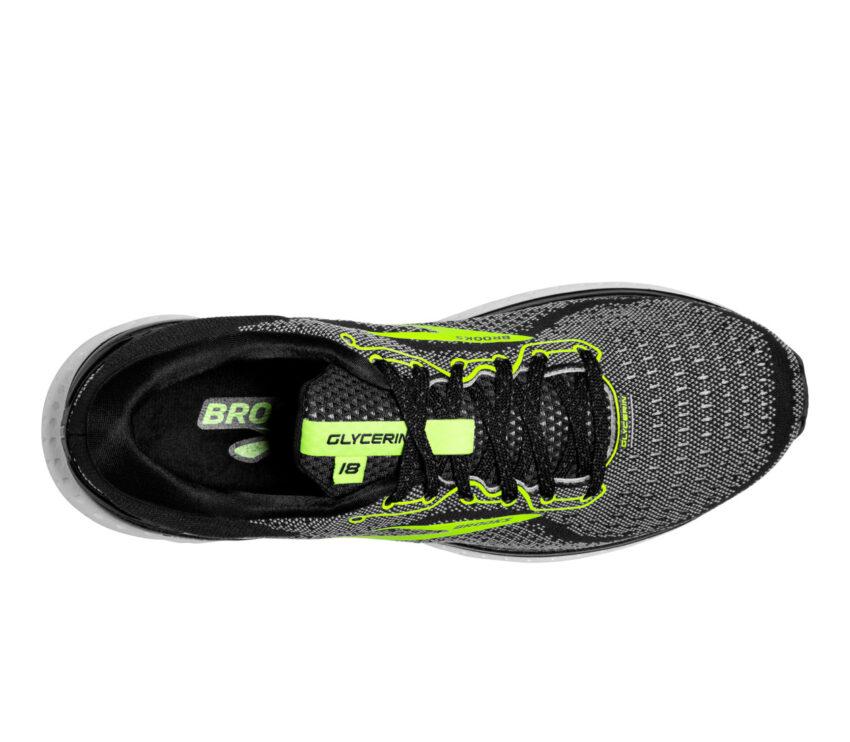 tomaia scarpa da running uomo brooks glycerin 18 024 nere