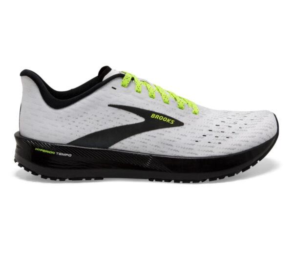 scarpa da running uomo reattiva e veloce brooks hyperion tempo grigia e nera