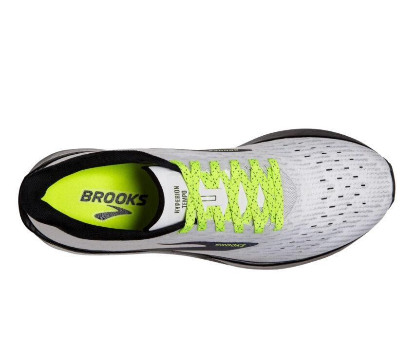 tomaia scarpa da running uomo reattiva e veloce brooks hyperion tempo grigia e nera