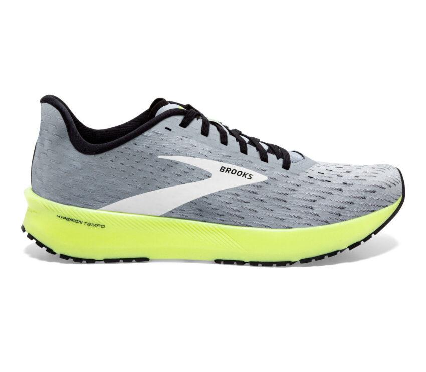 scarpe da running brooks hyperion tempo grigie e fluo