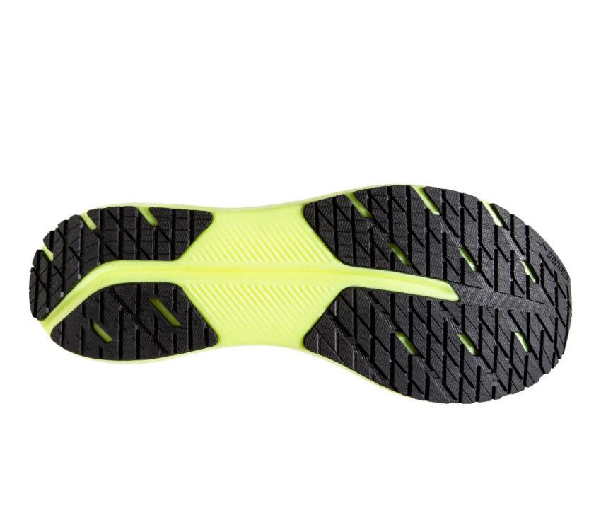 suola scarpe da running brooks hyperion tempo grigie e fluo