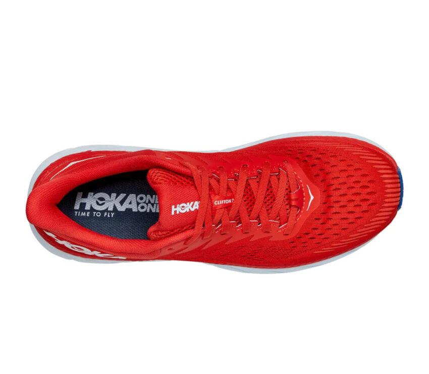 tomaia scarpe da running hoka clifton 7 rosse uomo