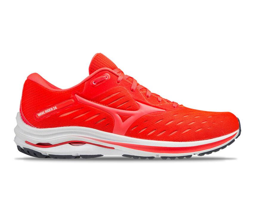 scarpa da running mizuno wave rider 24 uomo rossa
