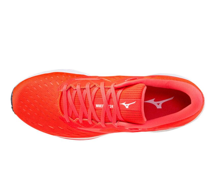 scarpa da running mizuno wave rider 24 uomo rossa tomaia