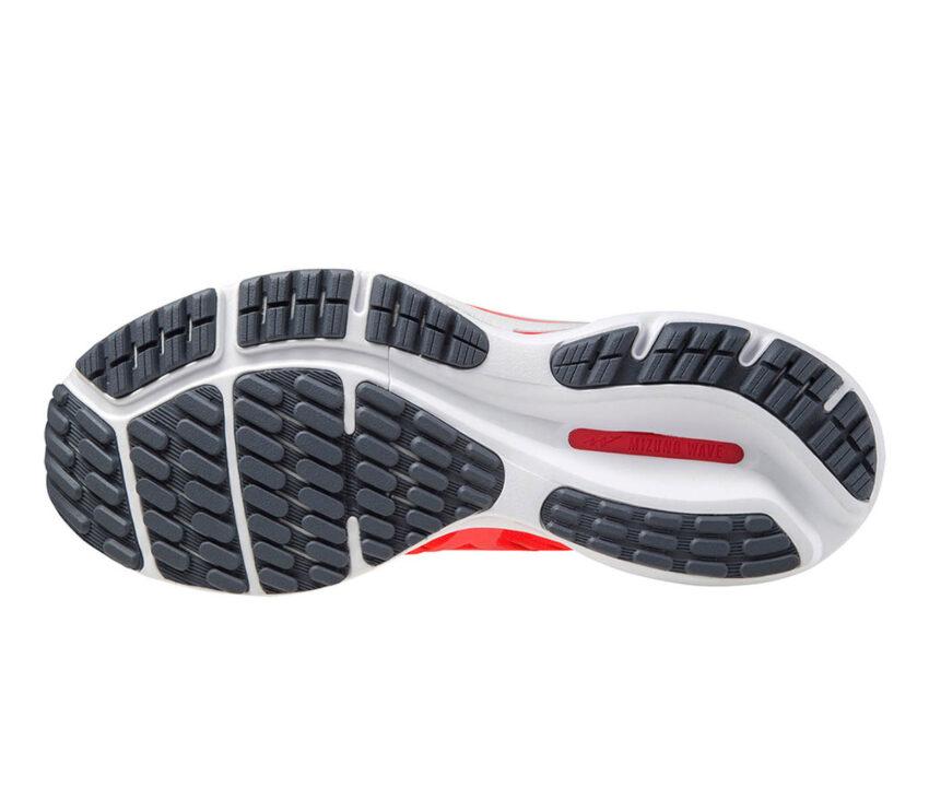 suola scarpa da running mizuno wave rider 24 uomo rossa
