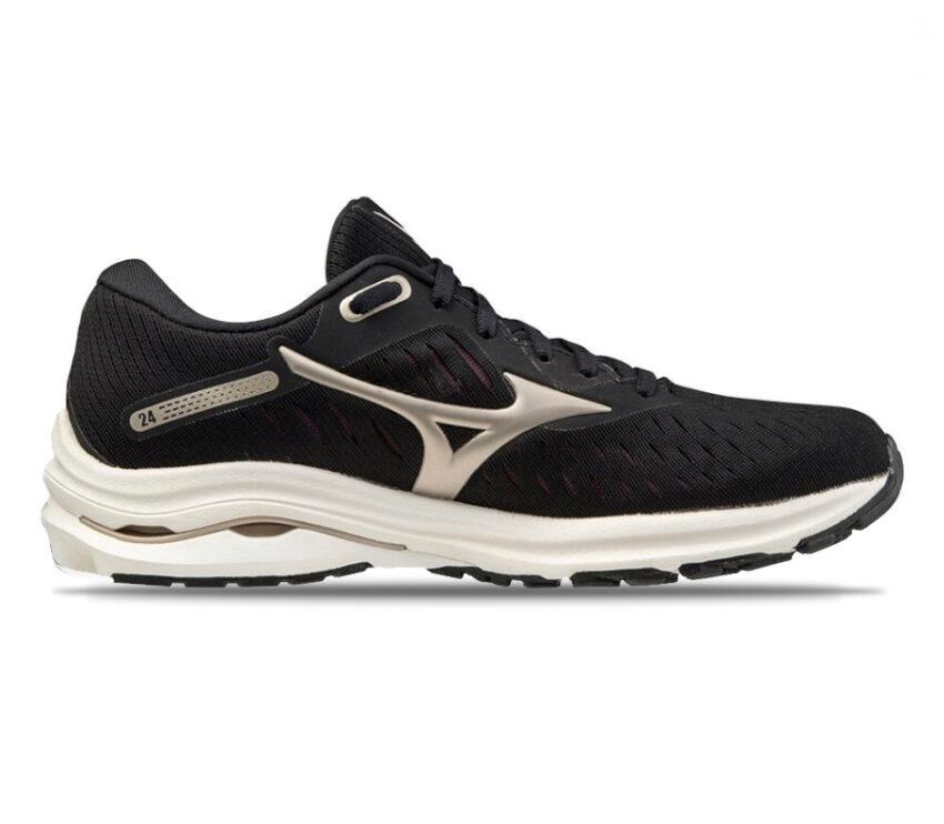 scarpa running donna nera mizuno wave rider 24