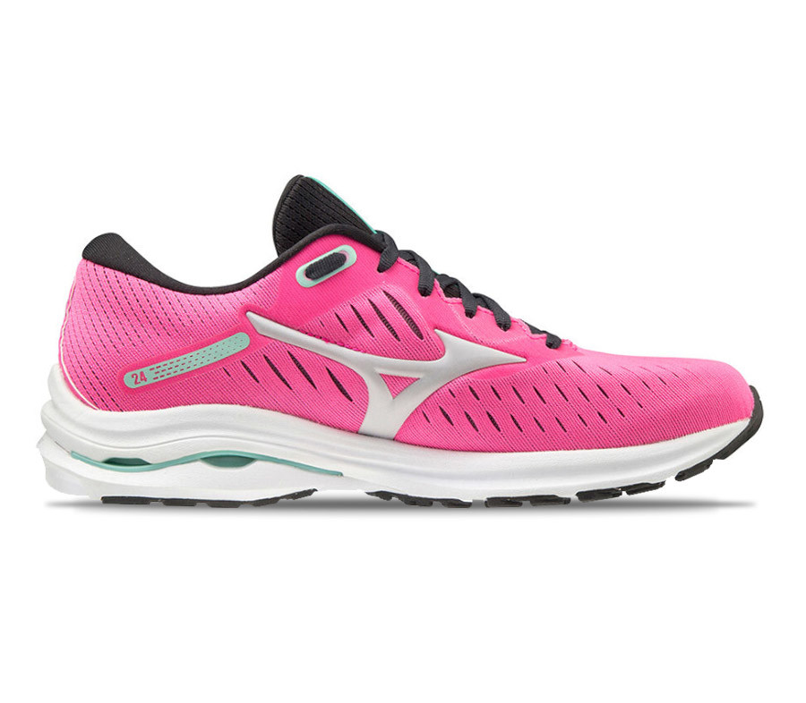 mizuno wave rider 24 scarpa running donna rosa