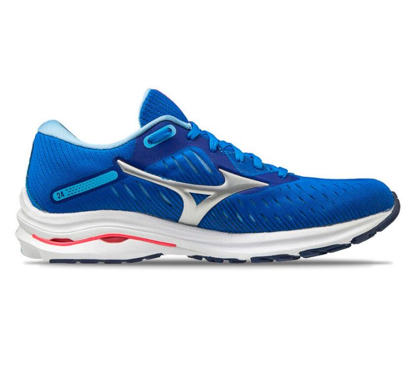 scarpa running da donna mizuno wave rider 24 blu
