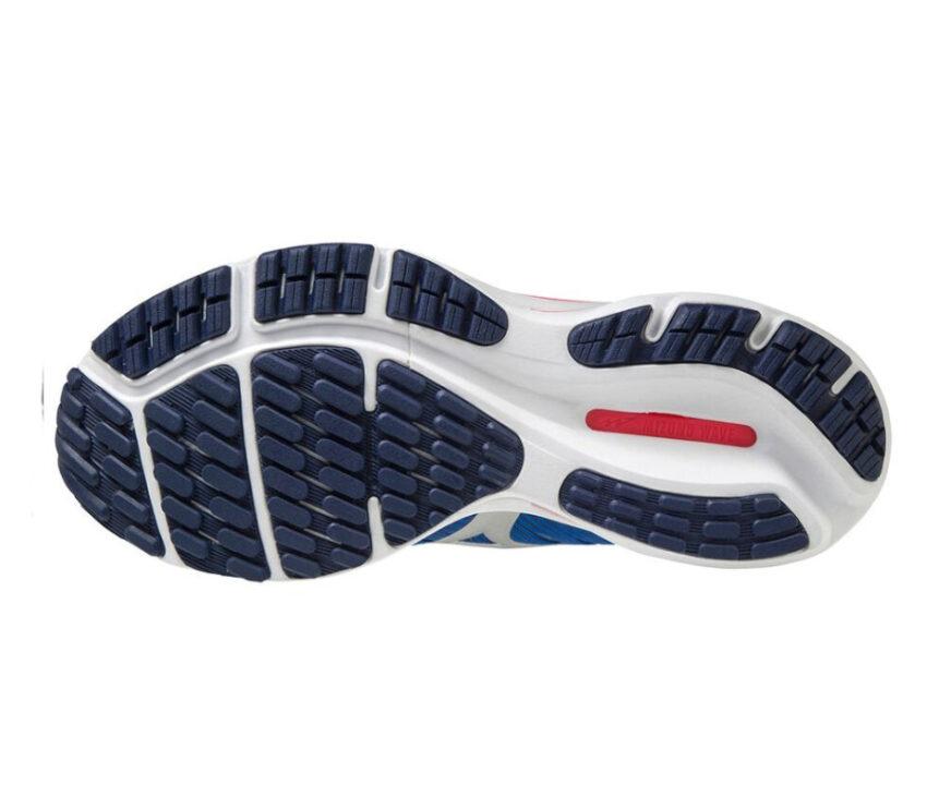 suola scarpa running da donna mizuno wave rider 24 blu