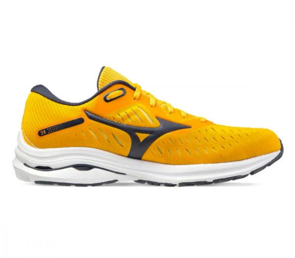 scarpa running veloce uomo mizuno wave rider 24 gialla