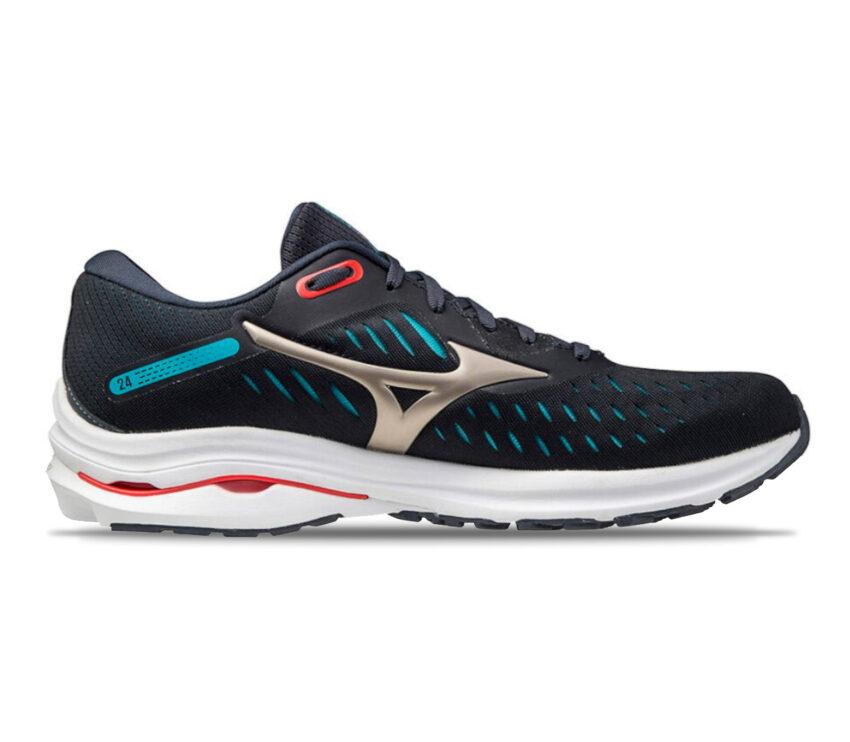scarpa running mizuno wave rider 24 uomo blu