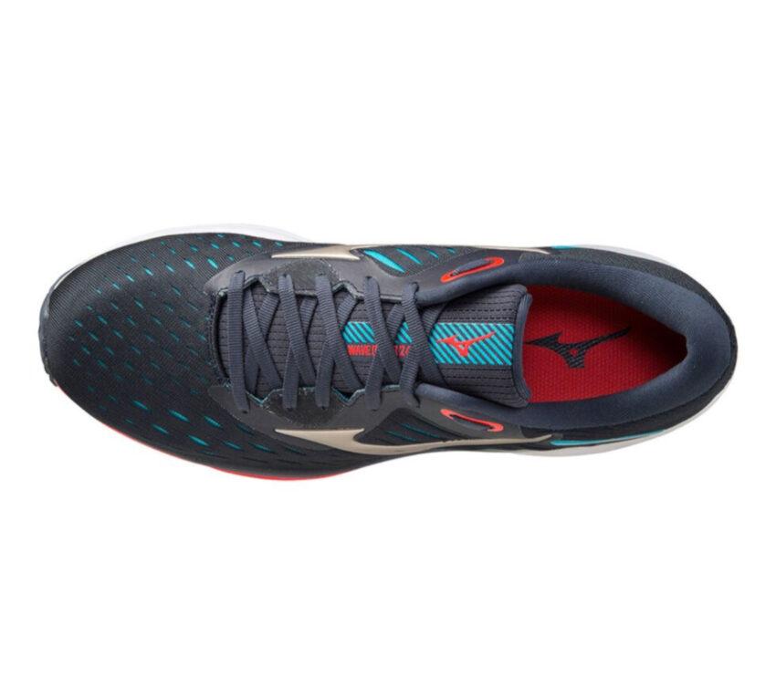 scarpa running mizuno wave rider 24 uomo blu vista dall'alto