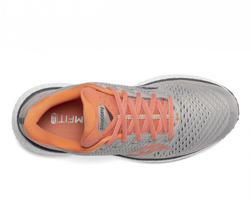 tomaia scarpa da running donna saucony triumph 18 rosa-grigio