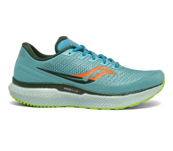 scarpa da running uomo saucony triumph 18 azzurra