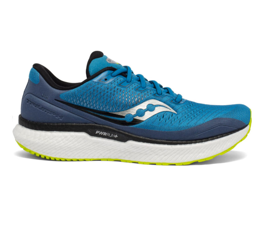 scarpa running uomo saucony triumph 18 blu
