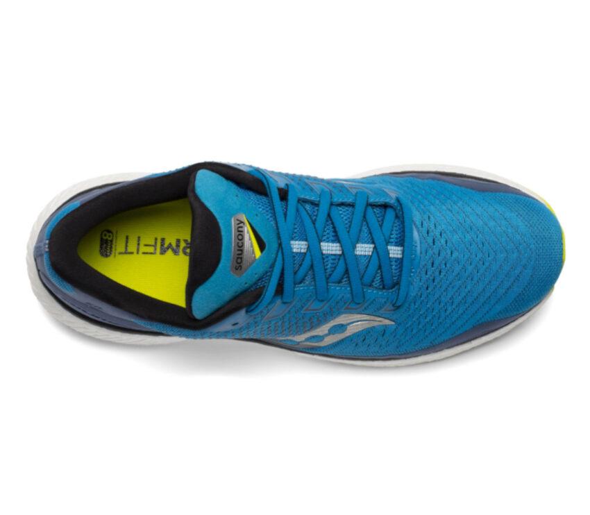 scarpa running uomo saucony triumph 18 blu vista dall'alto