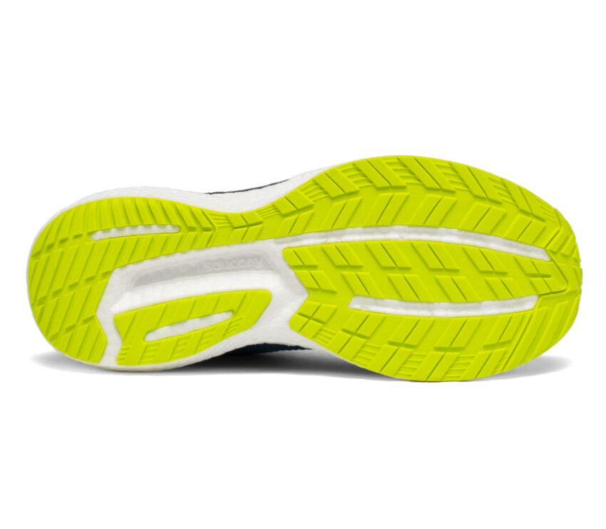 suola scarpa running uomo saucony triumph 18 gialla e bianca