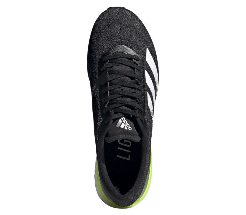 scarpa running performance adidas boston 9 nera da uomo vista dall'alto