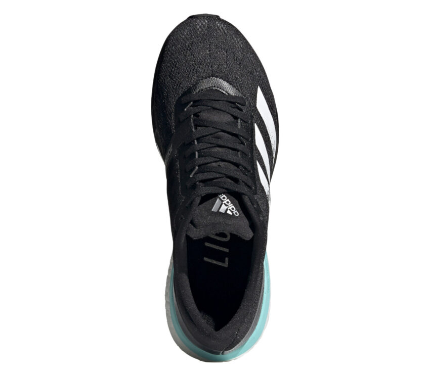 scarpa running performance da donna adidas boston 9 nera vista da sopra