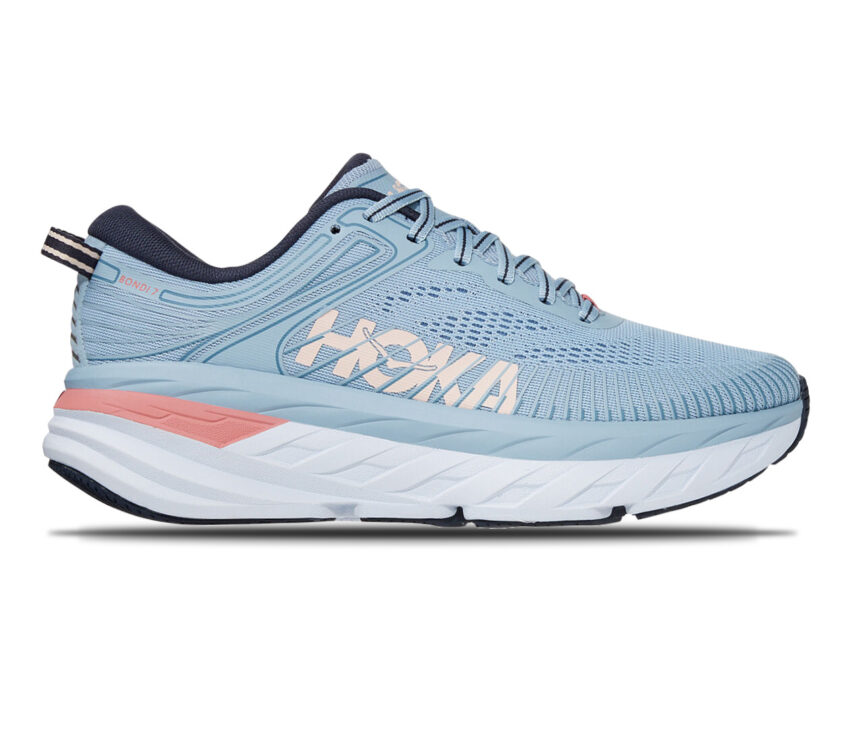 scarpa running donna hoka one one bondi 7 celeste