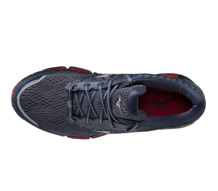 scarpa running uomo mizuno wave prophency 9 per runner pesanti vista da sopra