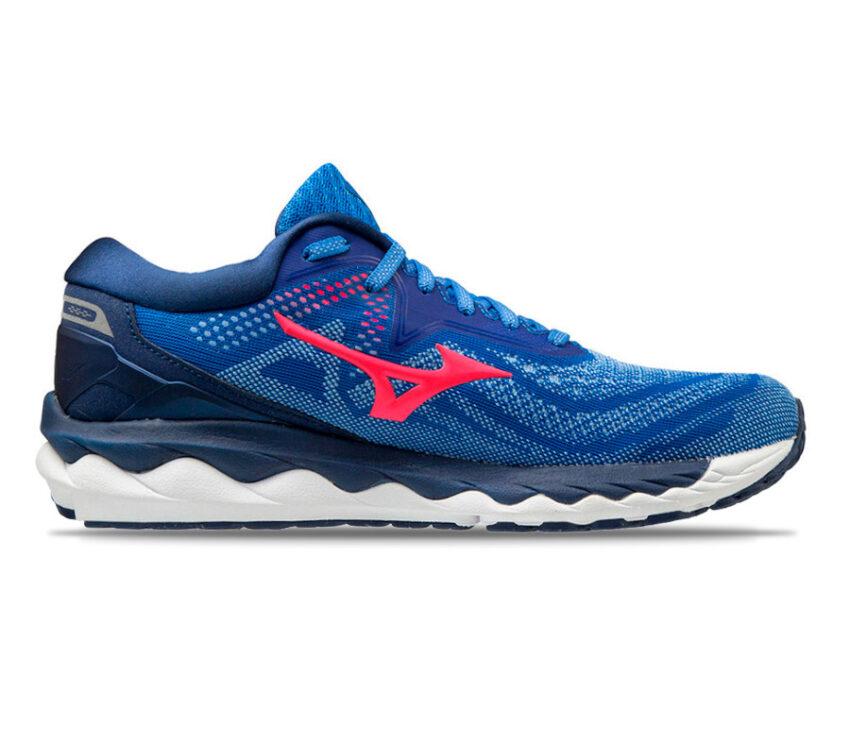scarpa da running donna mizuno wave sky 4 blu
