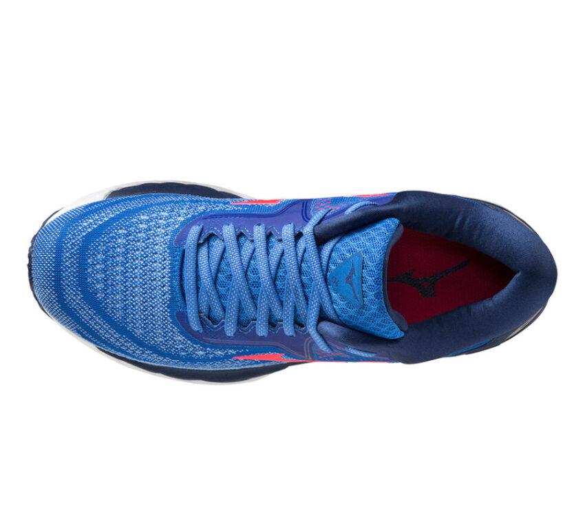 tomaia scarpa da running donna mizuno wave sky 4 blu
