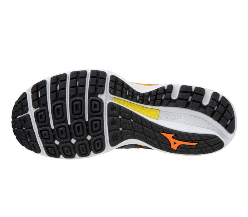 suola scarpa da running uomo mizuno wave sky 4 nera