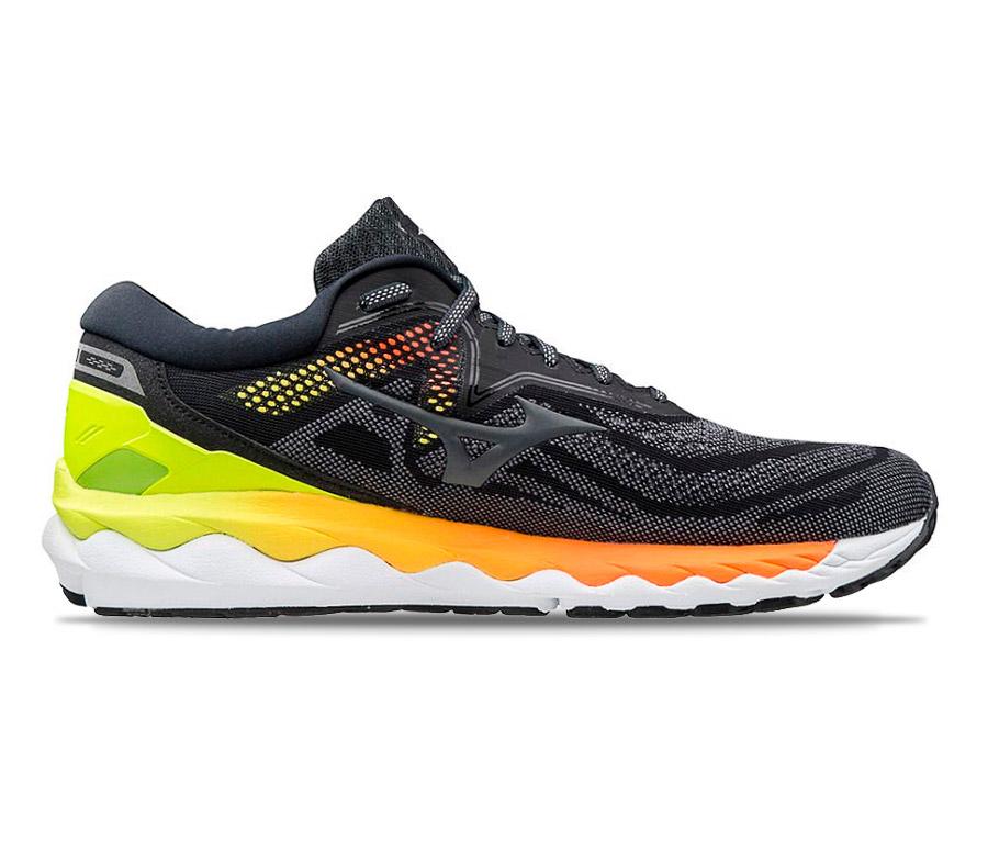 scarpa da running uomo mizuno wave sky 4 nera