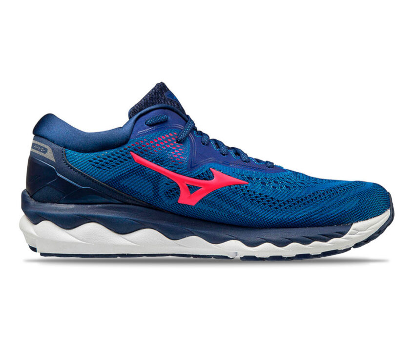 scarpa da running uomo mizuno wave sky 4 blu